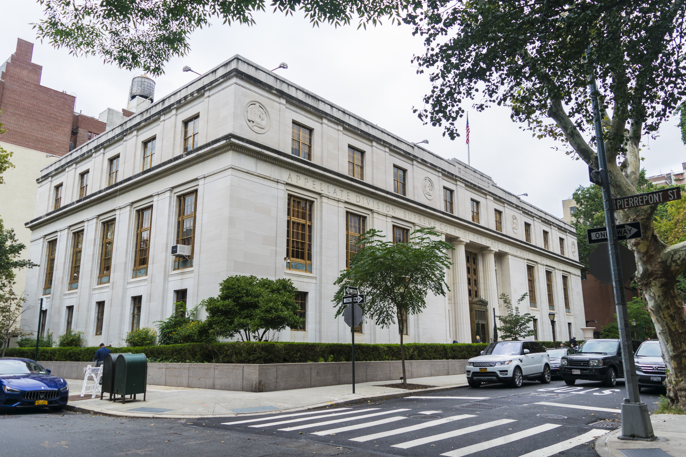 Second Department Appellate Division on Monroe Place.  Eagle  photo by Rob Abruzzesse.