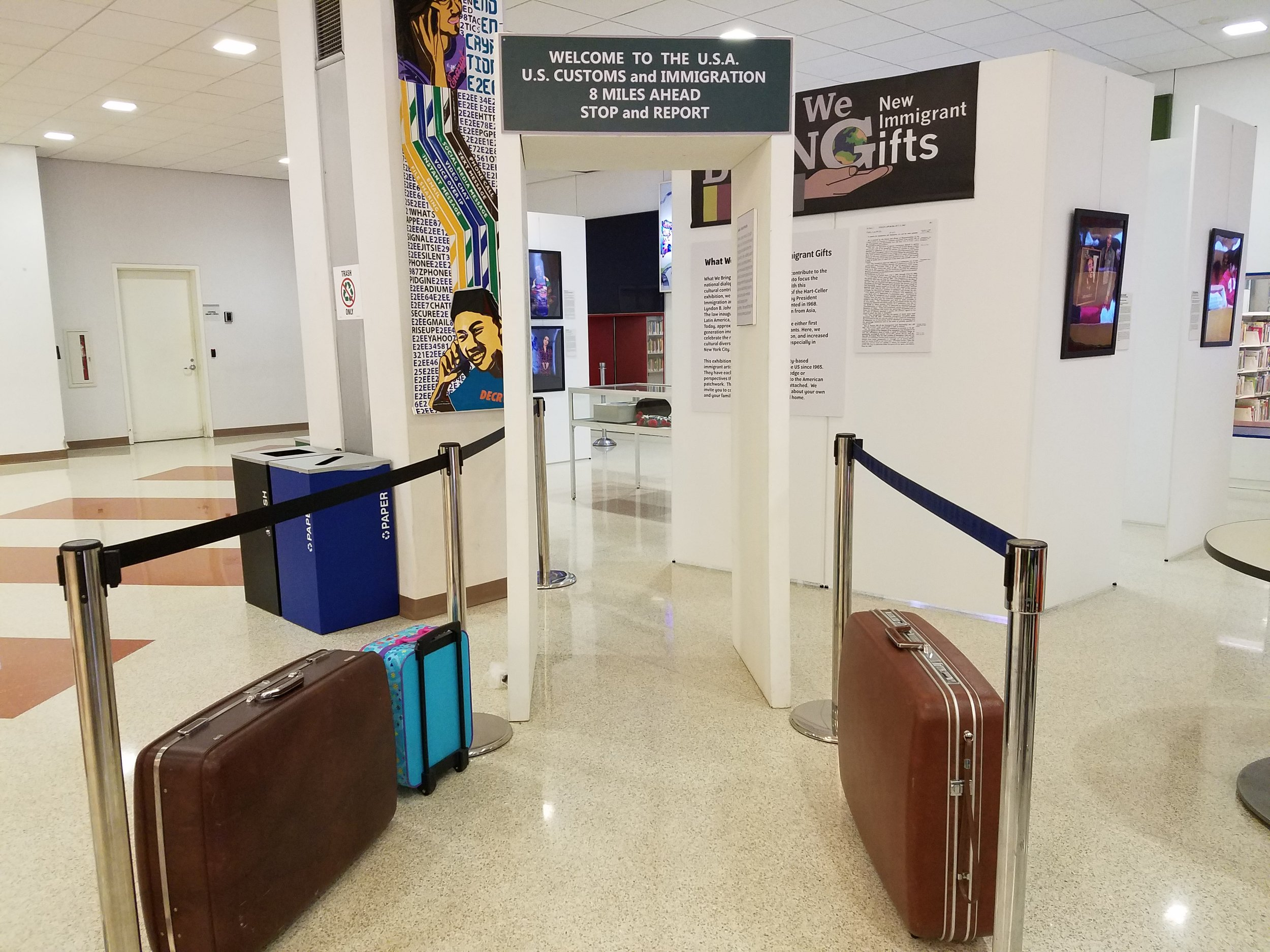"""The exhibition """"What We Bring: New Immigrant Gifts"""" will commence at the Queens Library Jamaica Branch on Thursday. Photo courtesy of the Queens Library."""