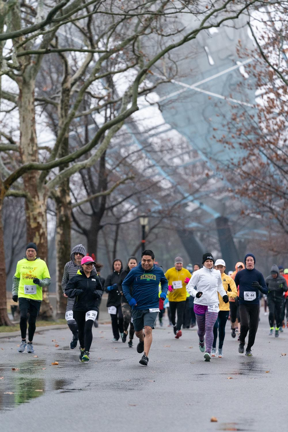 Runners compete in the Queens Marathon at Flushing Meadows Corona Park. Photo courtesy of QEDC