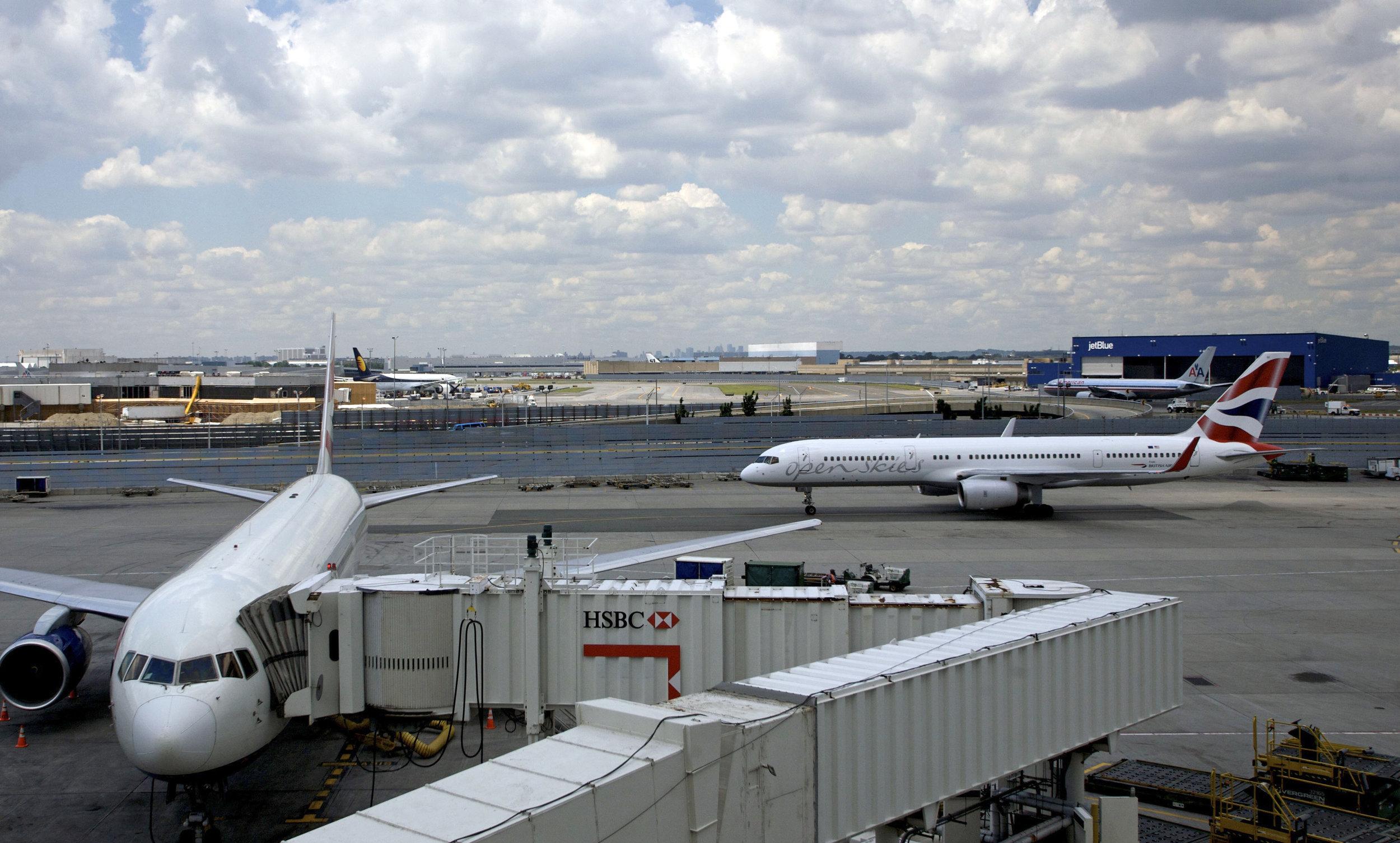 An OpenSkies — British Airways' new premium affiliate — airplane taxis at JFK Airport. AP Photo/Jin Lee).