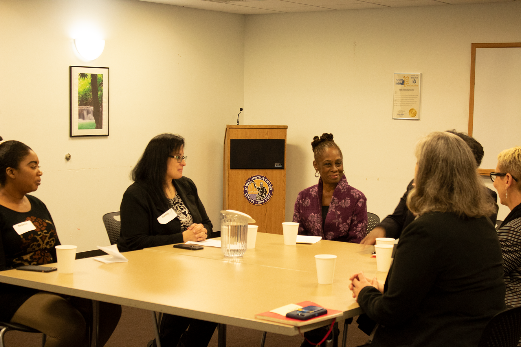 The Queens Family Justice Center began offering mental health services in 2017 with support from New York City First Lady Chirlane McCray's ThriveNYC mental health initiative.  Eagle  photo by Victoria Merlino.