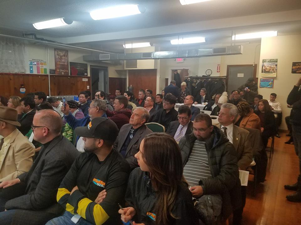 Small business advocates attend a forum at the Shaw AME Zion Church in Corona. Photo courtesy of Nos Quedamos.