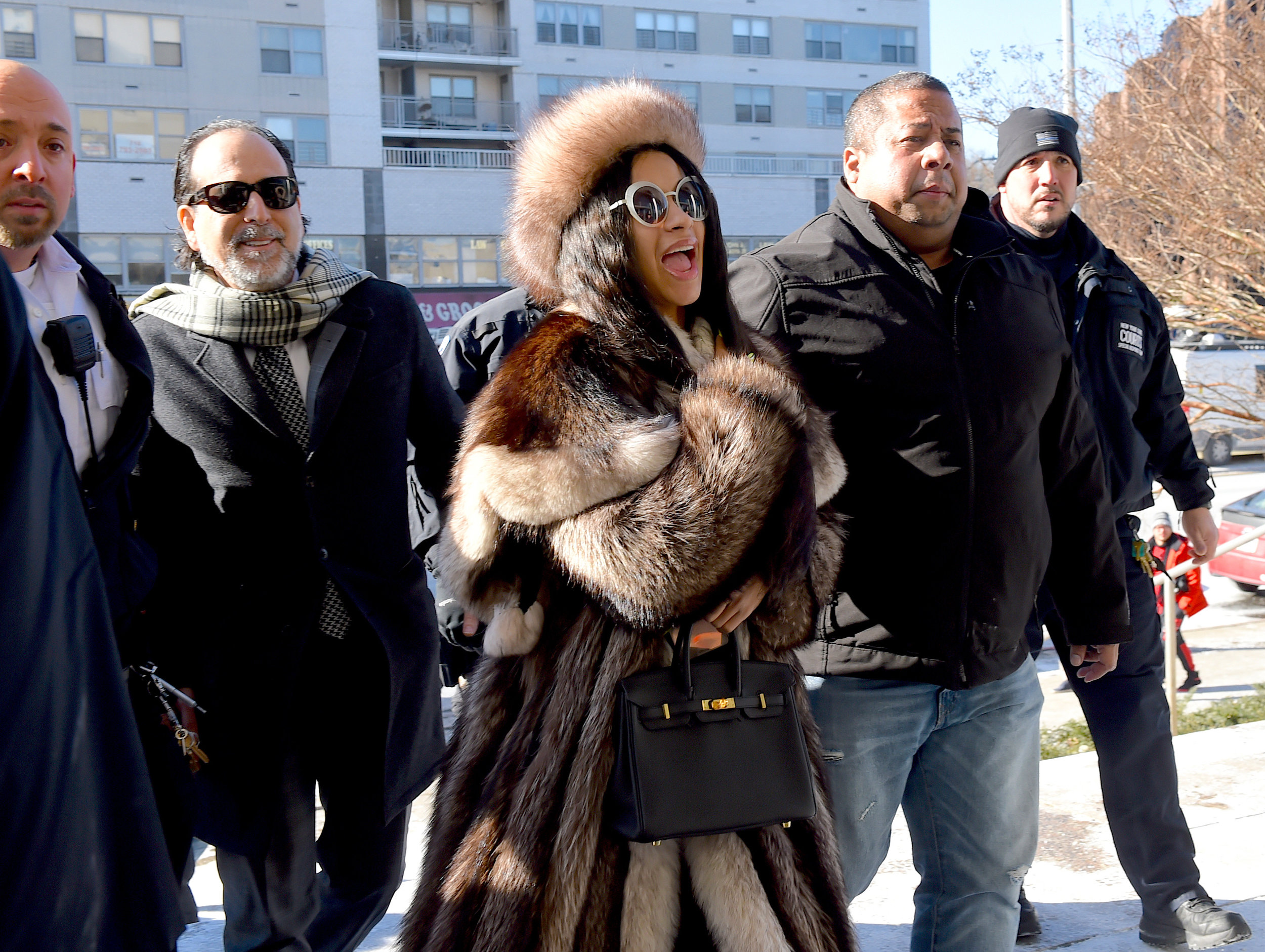 Cardi B outside of Queens Criminal Courthouse on Thursday, Jan. 31.  Eagle  photo by Todd Maisel