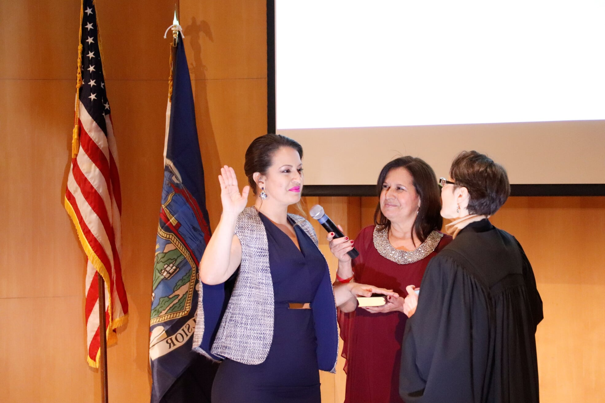 Assemblymember Catalina Cruz was sworn into office at a special ceremony last week in Corona.  Photo courtesy of Cruz's office.