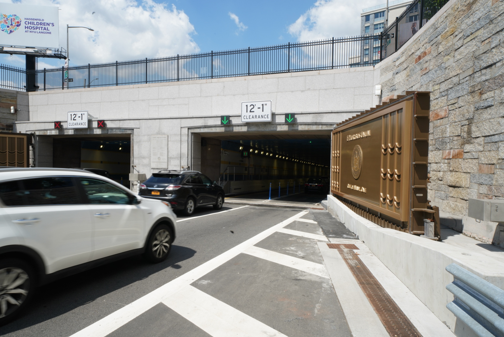 Drivers traveling into Manhattan through the Midtown Tunnel would experience a toll hike if the state legislature passes a congestion pricing measure. Photo via the Governor's Office/Flickr.