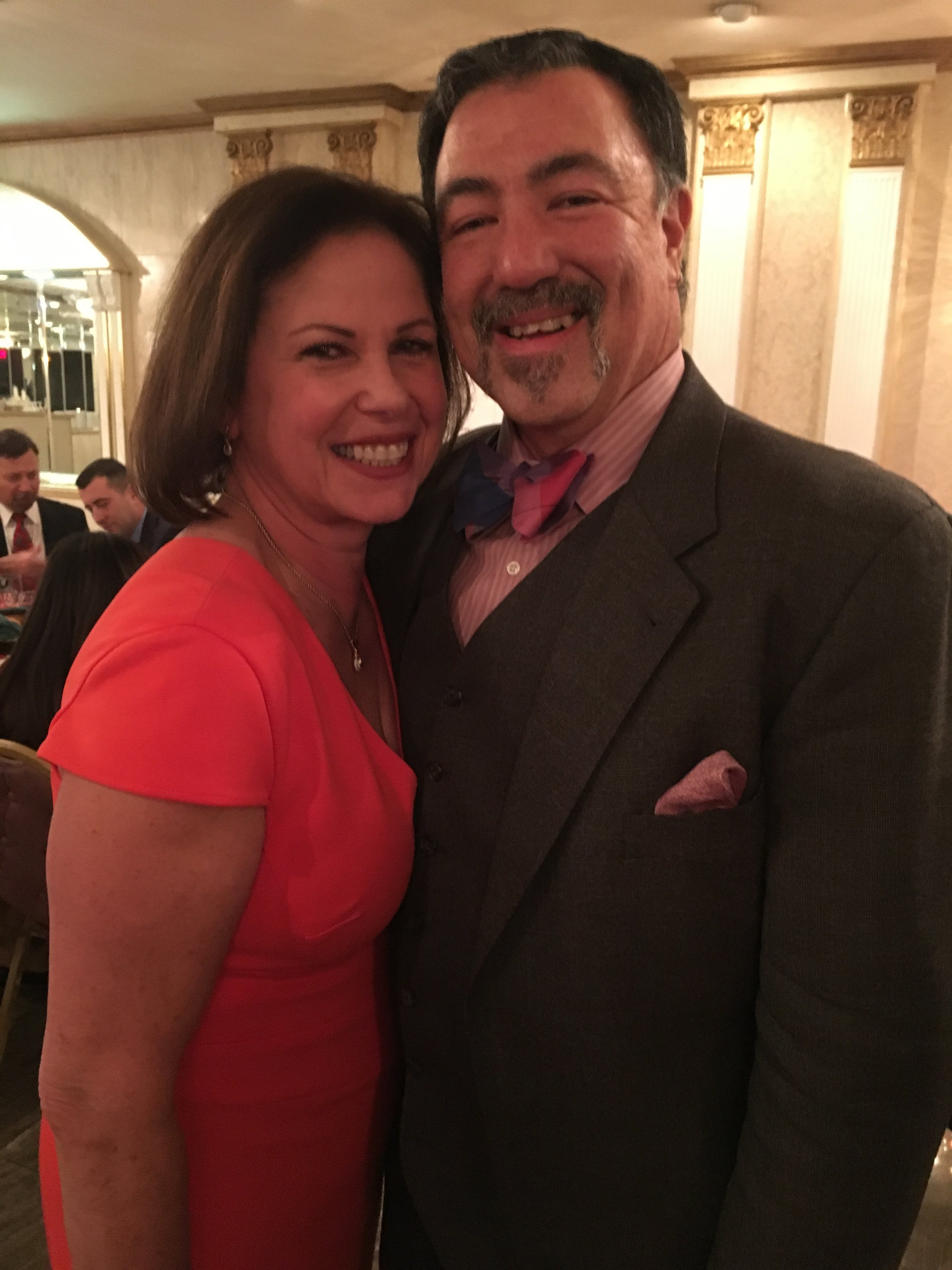 Attorney Wyatt Gibbons, a candidate for the Civil Court bench, and his wife Judge Bruna DiBiase who presides in AP6 in Queens Criminal Court. Photo courtesy of Wyatt Gibbons.