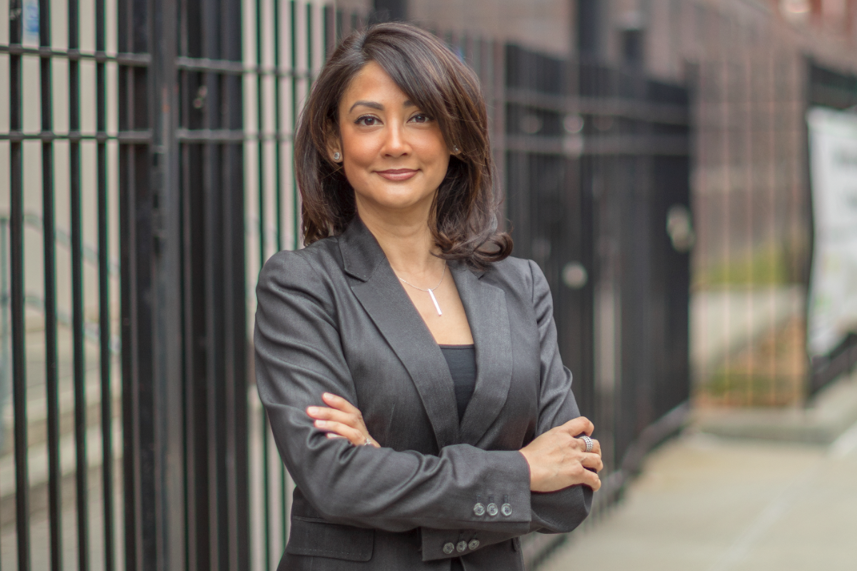 Mina Malik, former director of the Civilian Complaint Review Board and a former Queens prosecutor, officially announced her candidacy for Queens District Attorney on Tuesday. Photo courtesy of Mina Malik.