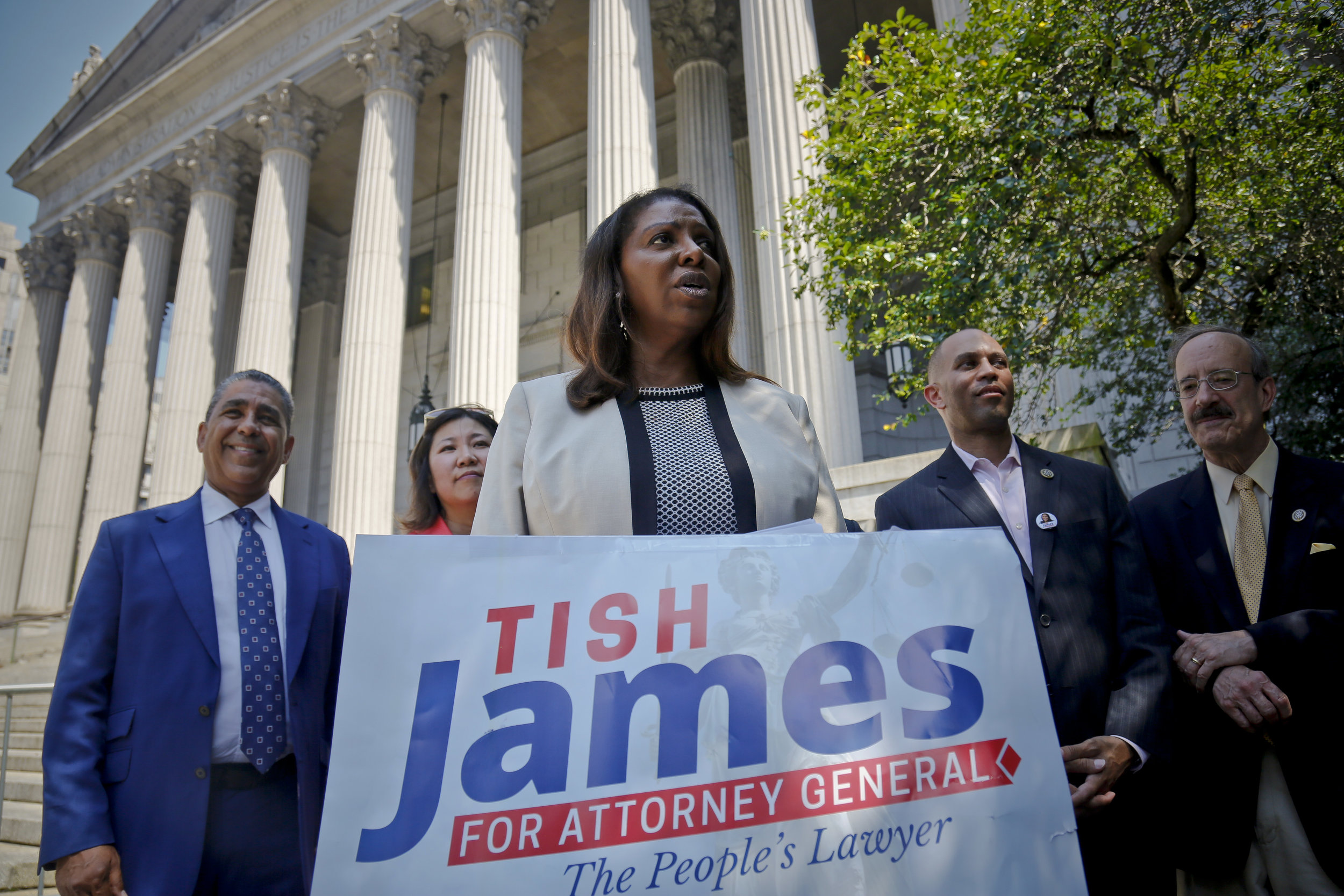 Sixteen candidates are vying to replace former Public Advocate Letitia James in the Feb. 26 special election. AP Photo/Bebeto Matthews.