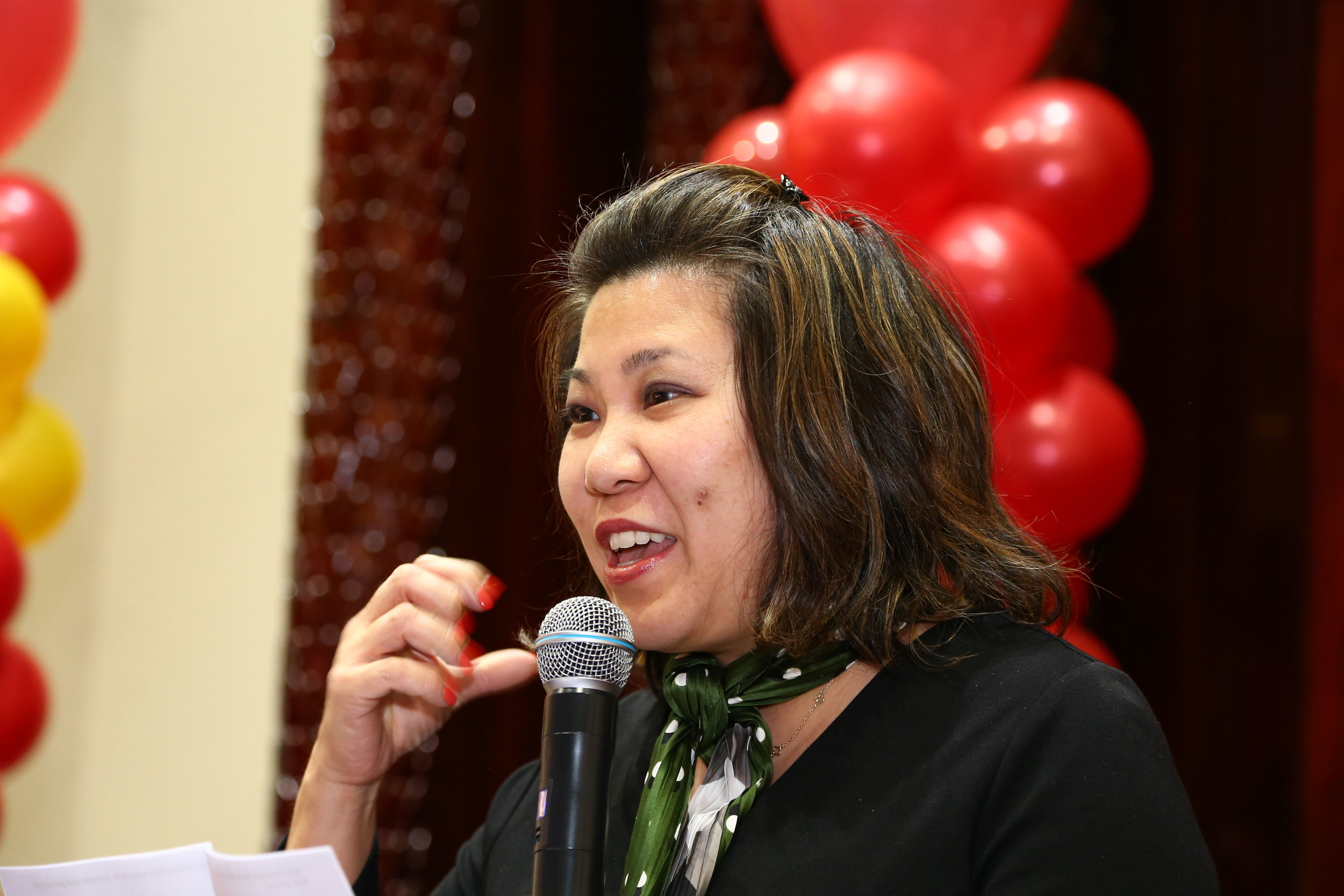 U.S. Rep. Grace Meng speaks at the anniversary of Druzbha, North America's largest Russian-language Jewish interest magazine.  Eagle  photos by Andy Katz.