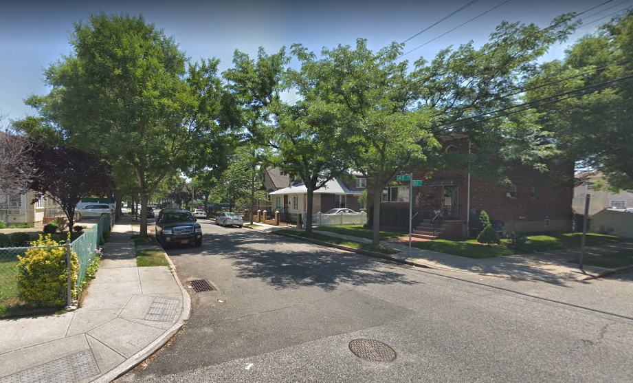 The intersection of 180th Street and 145th Avenue, where police say Pernell Cudjoe was fatally shot. Photo via Google Maps.