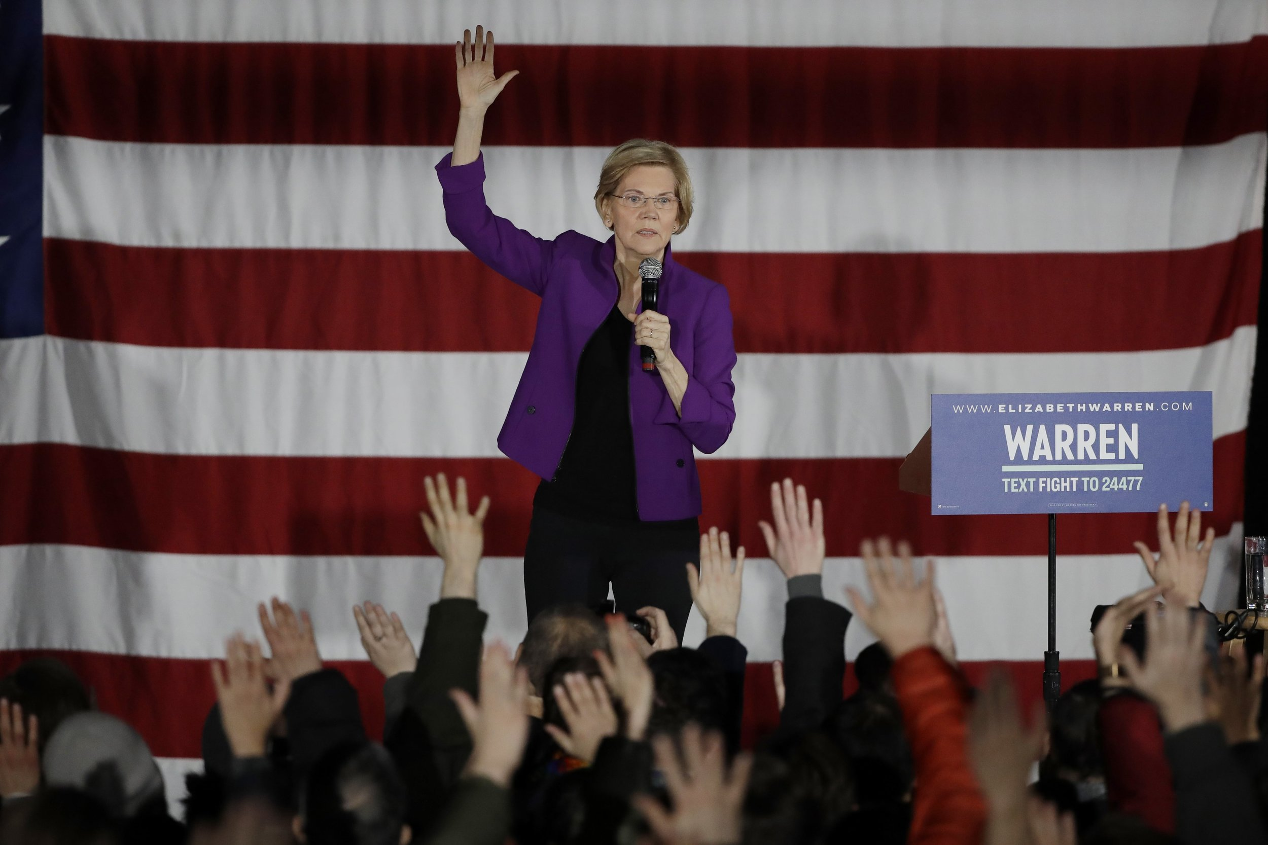 U.S. Sen. Elizabeth Warren visited Long Island City to campaign for president on Friday. AP Photo/Frank Franklin II.
