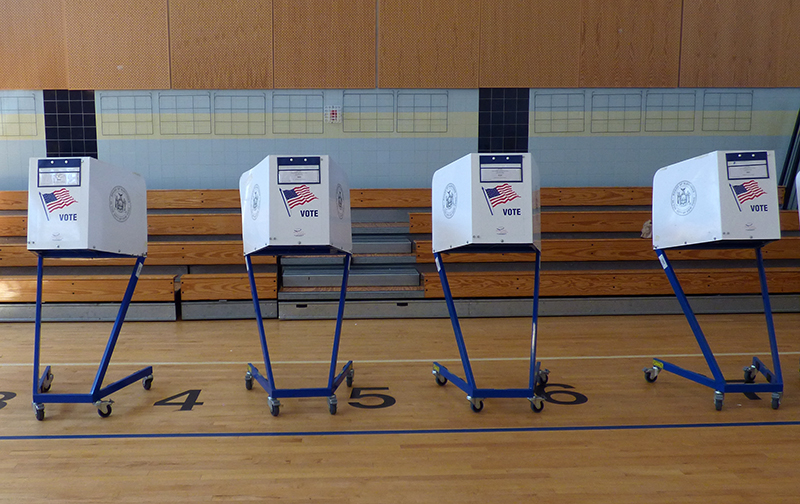 Queens residents will cast their vote in the district attorney primary elections on June 25.  Eagle  photo by Mary Frost