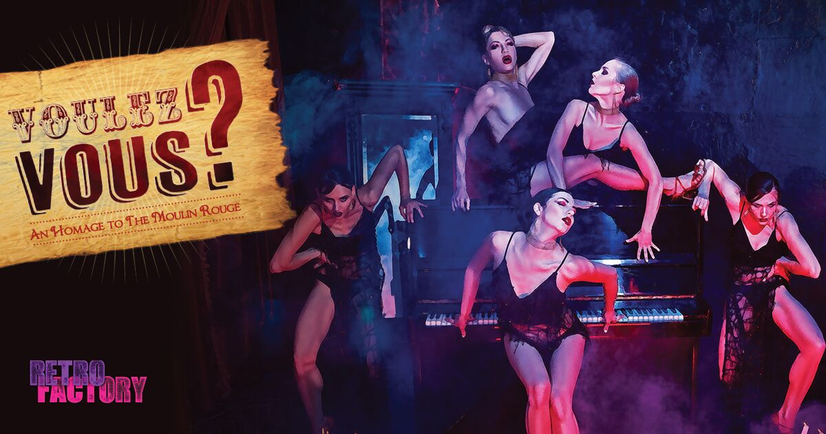Theatre C's Retro Factory brings Moulin Rouge to Long Island City. Image courtesy of Theatre C.