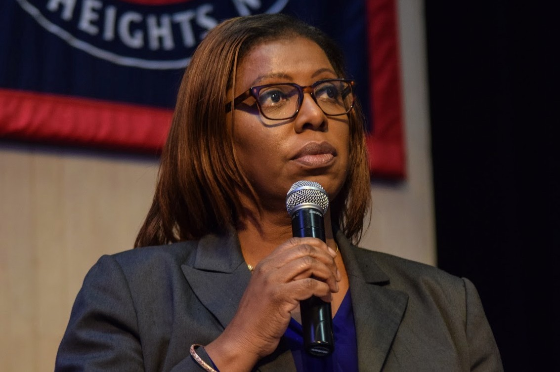"New York Attorney General Letitia James filed an amicus brief on behalf of the plaintiffs in a lawsuit challenging the Trump Administration's proposed change to the ""public charge"" rule.  Eagle  photo by Rob Abruzzese."