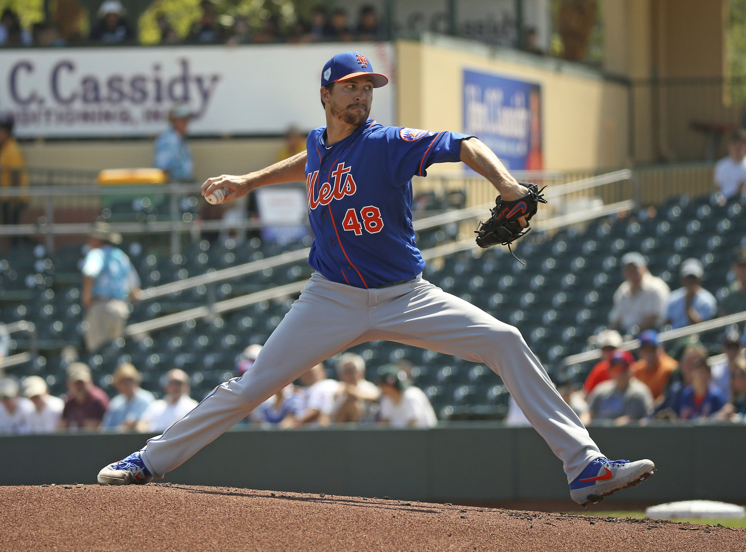 Mets Ace Jacob DeGrom will ink a five-year extension with the club. David Santiago/Miami Herald via AP, File.