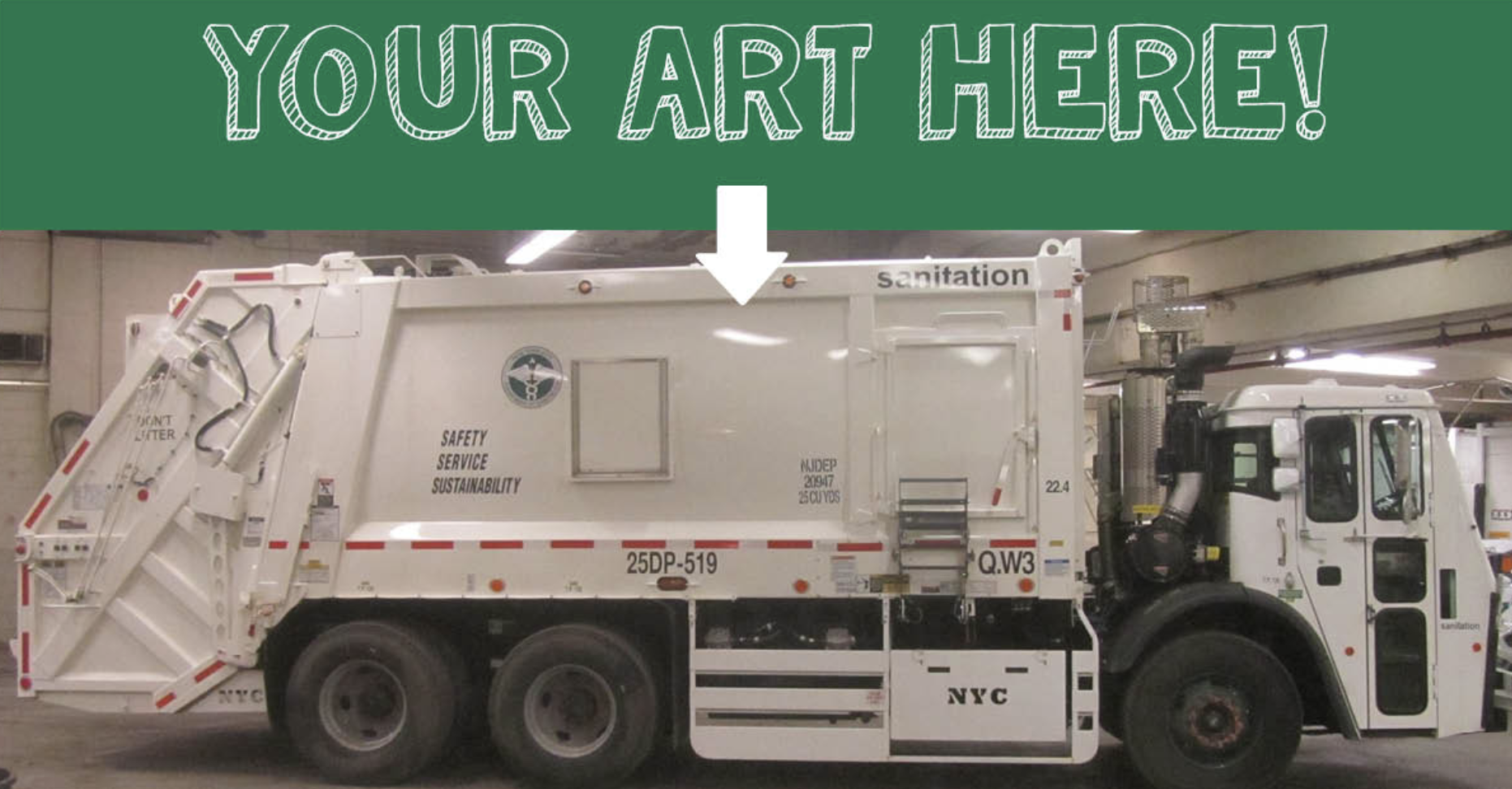 The Department of Sanitation is seeking artists to turn their garbage trucks into works of art. Photo courtesy of DSNY