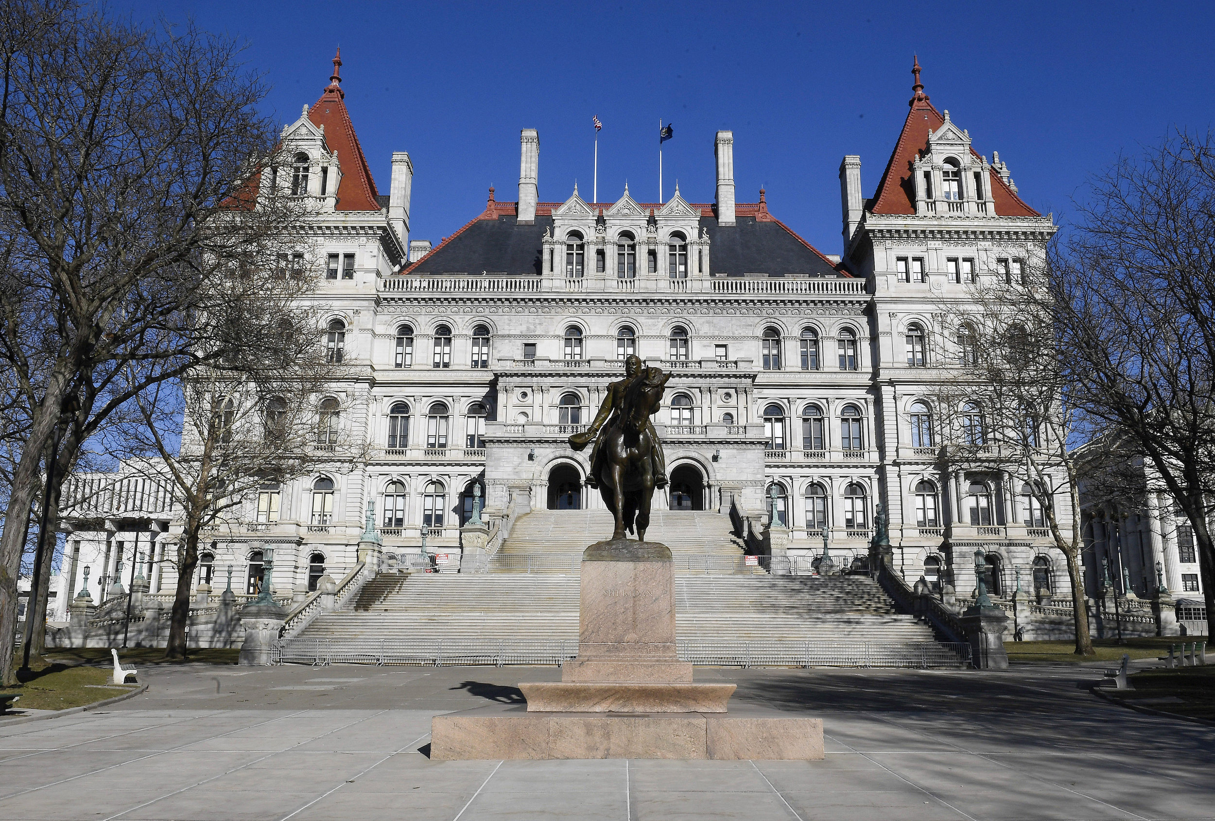 The New York state Capitol in Albany. AP Photo/Hans Pennink.