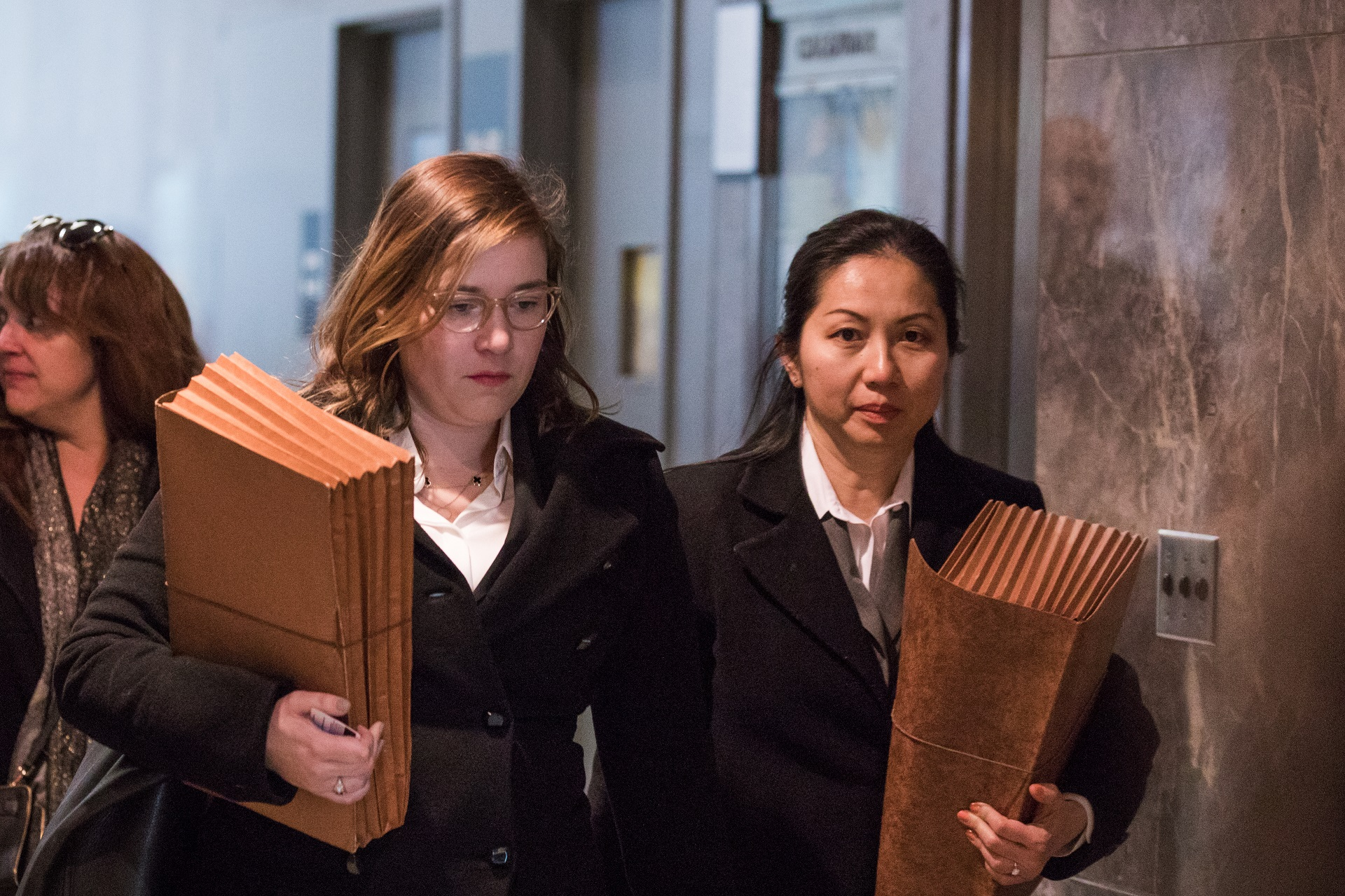 Legal Aid attorneys Julia Burke (left) and Jenny Cheung (right) filed a motion to set aside a guilty verdict in the case of the man convicted of killing Karina Vetrano. Judge Michael Aloise denied the motion after a hearing Monday.  Eagle  file photo by Paul Frangipane.