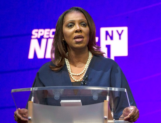 State Attorney General Letitia James denounced a potential citizenship question on the 2020 U.S. Census. Holly Pickett/ The New York Times  via AP, Pool, File.