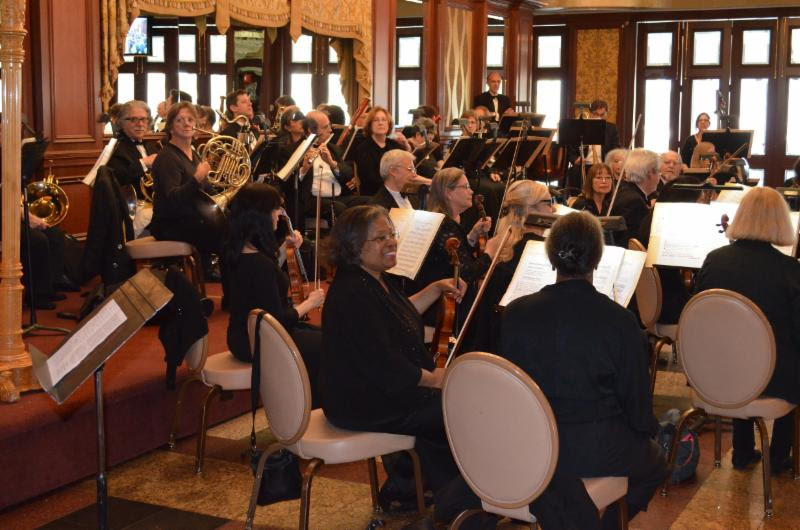 The Queens Symphony Orchestra performs at Russo's On The Bay in Howard Beach. Photo courtesy of Councilmember Eric Ulrich.