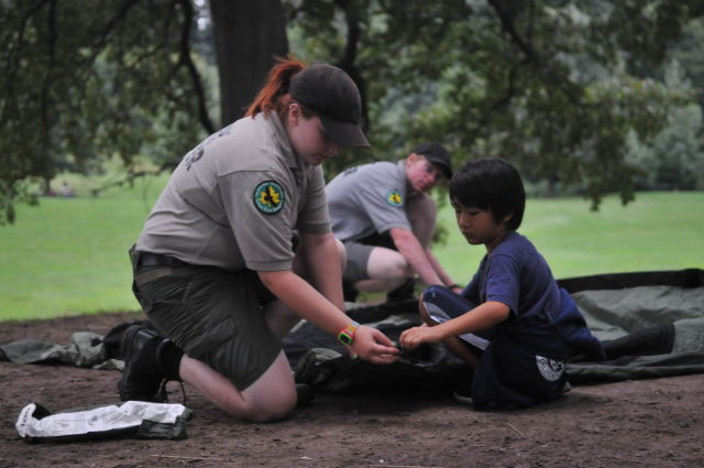 Urban Park Rangers work to educate New Yorkers about close-to-home greenspaces. Photo via the Parks Department.