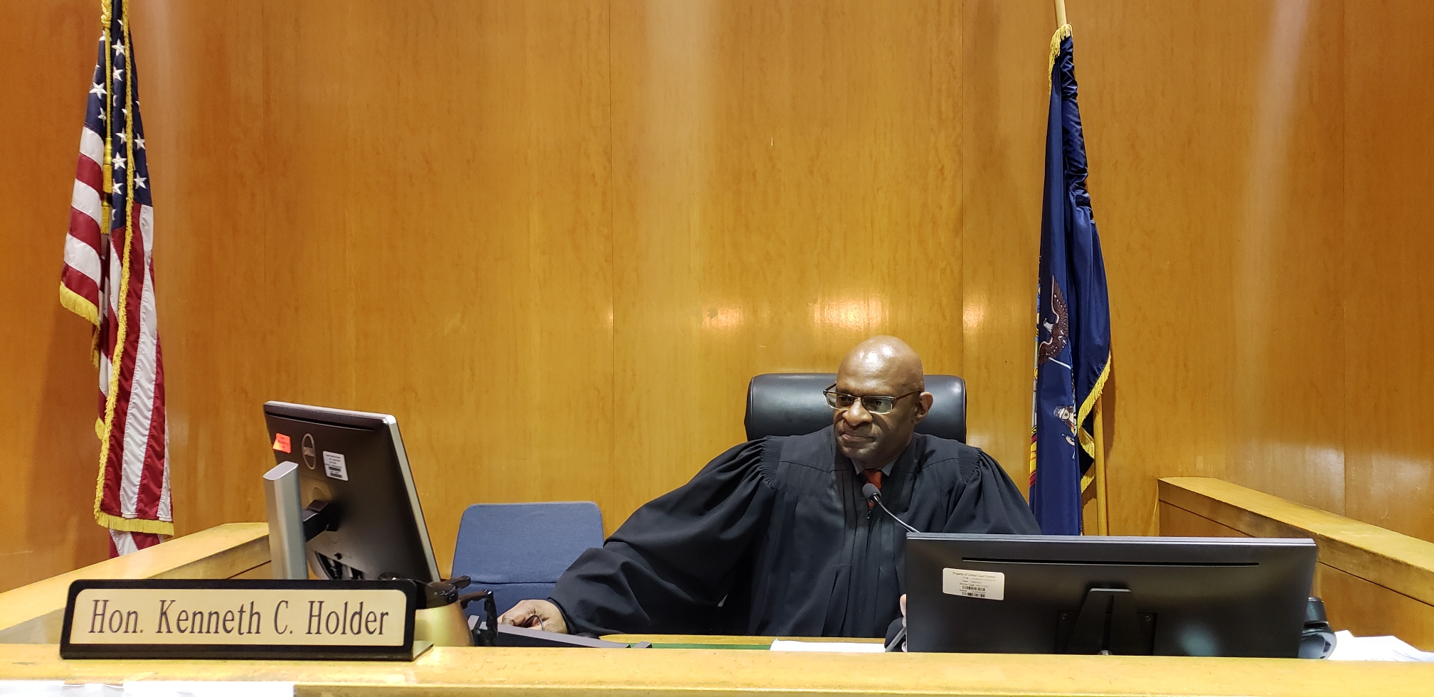 Justice Kenneth Holder will preside over the case of Troy Thomas, who was charged with second-degree murder and extradited from Guyana on Wednesday.  Eagle  file photo.