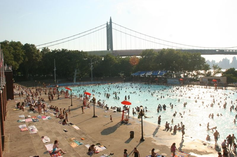 The Astoria Park Pool has kept the neighborhood cool since 1936. Photo via the Parks Department.