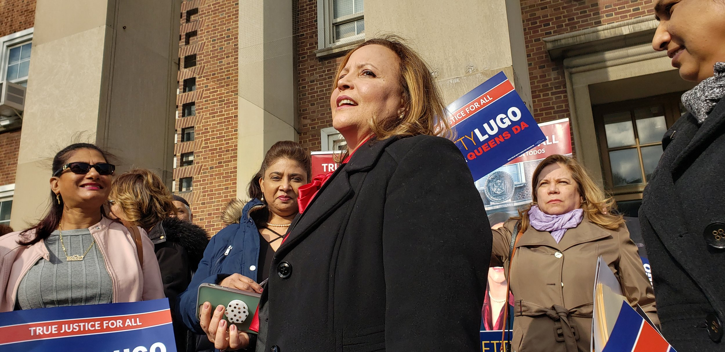 Betty Lugo kicks off her campaign for Queens DA earlier this year. Photo courtesy of Betty Lugo