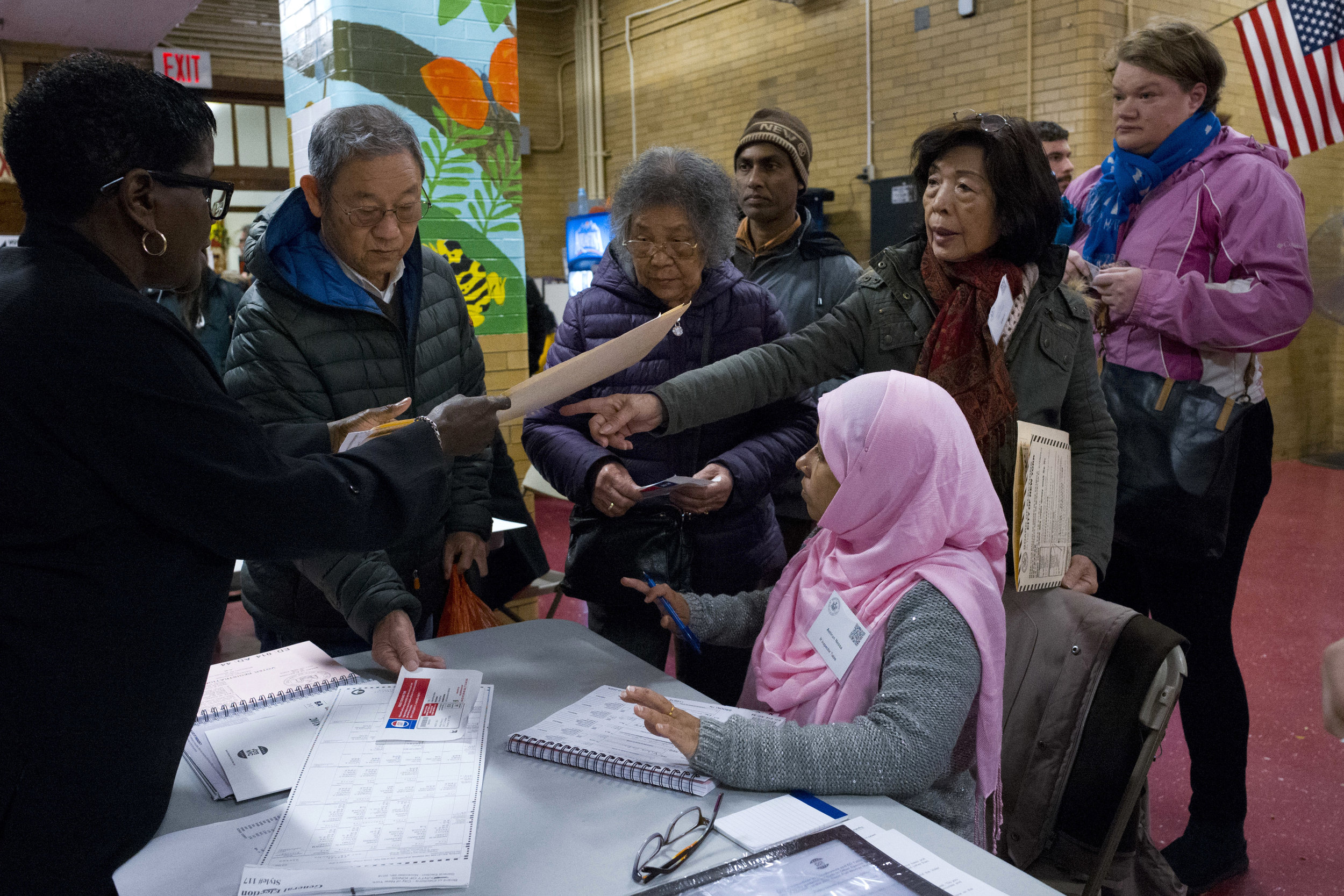 New York City voters cast their ballots in the 2018 Midterm Election. Mark Lennihan/AP Photo, File