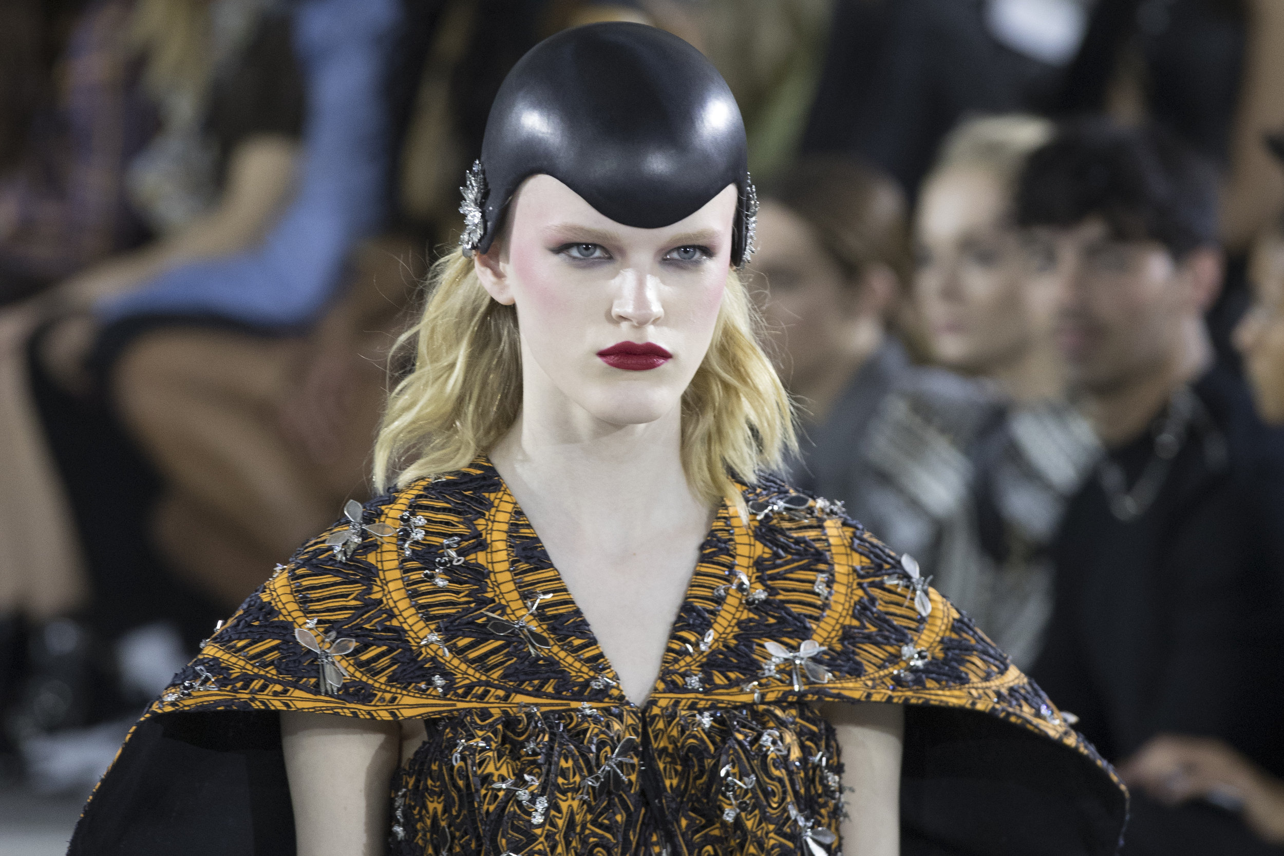 A model walks the runway during the Louis Vuitton Cruise 2020 collection presentation at Kennedy Airport, on May 8. AP Photos/Mary Altaffer.