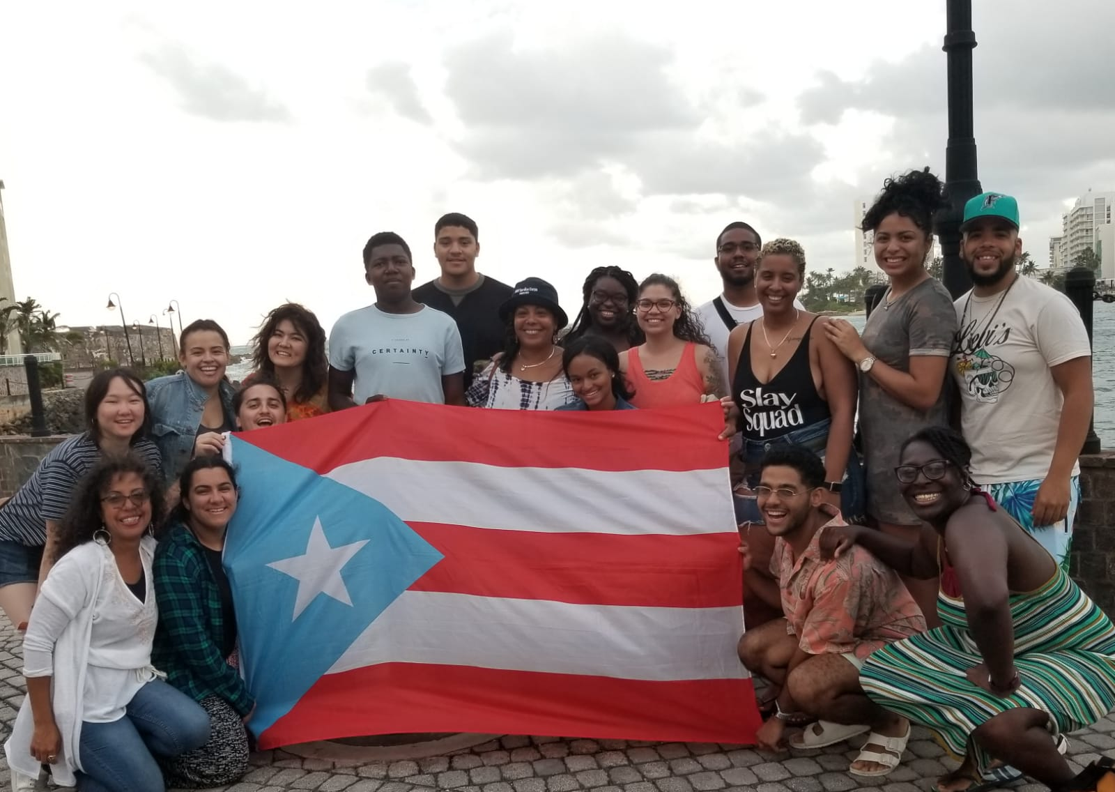 CUNY students, many of them from Queens, participated in a service trip to Puerto Rico. Photos courtesy of Andrew Sokolof.