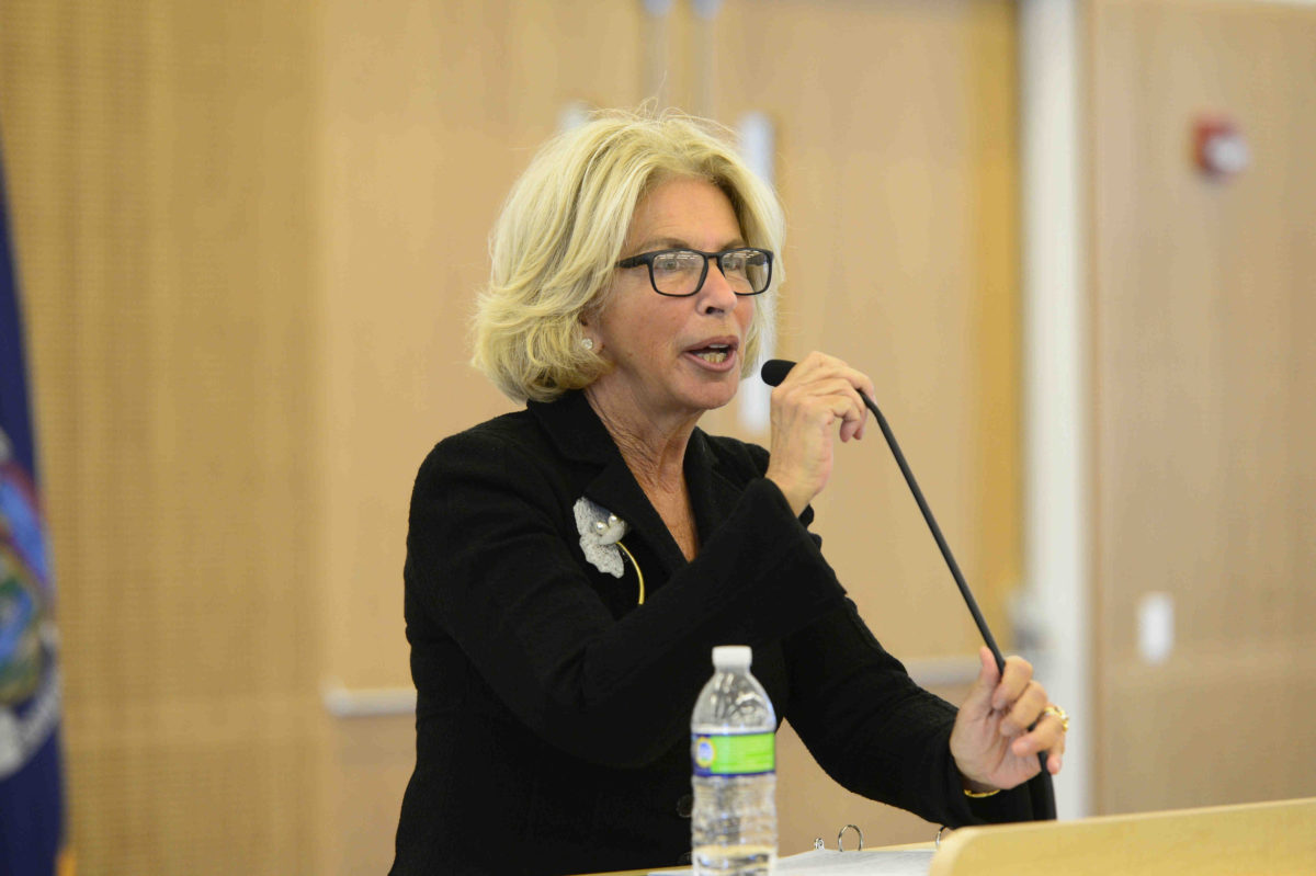 """Chief Judge Janet DiFiore announced the new """"presumptive ADR"""" model last week.  Eagle  photo by Todd Maisel."""