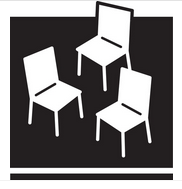 The new POPS logo will feature three white chairs against a black background. Courtesy of the Department of City Planning.