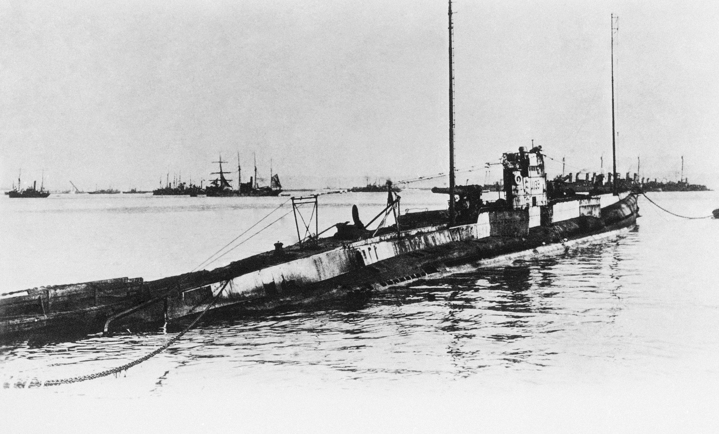 A German U-boat, similar to the one that sunk a British tanker near the Rockaways in 1942. (AP Photo).