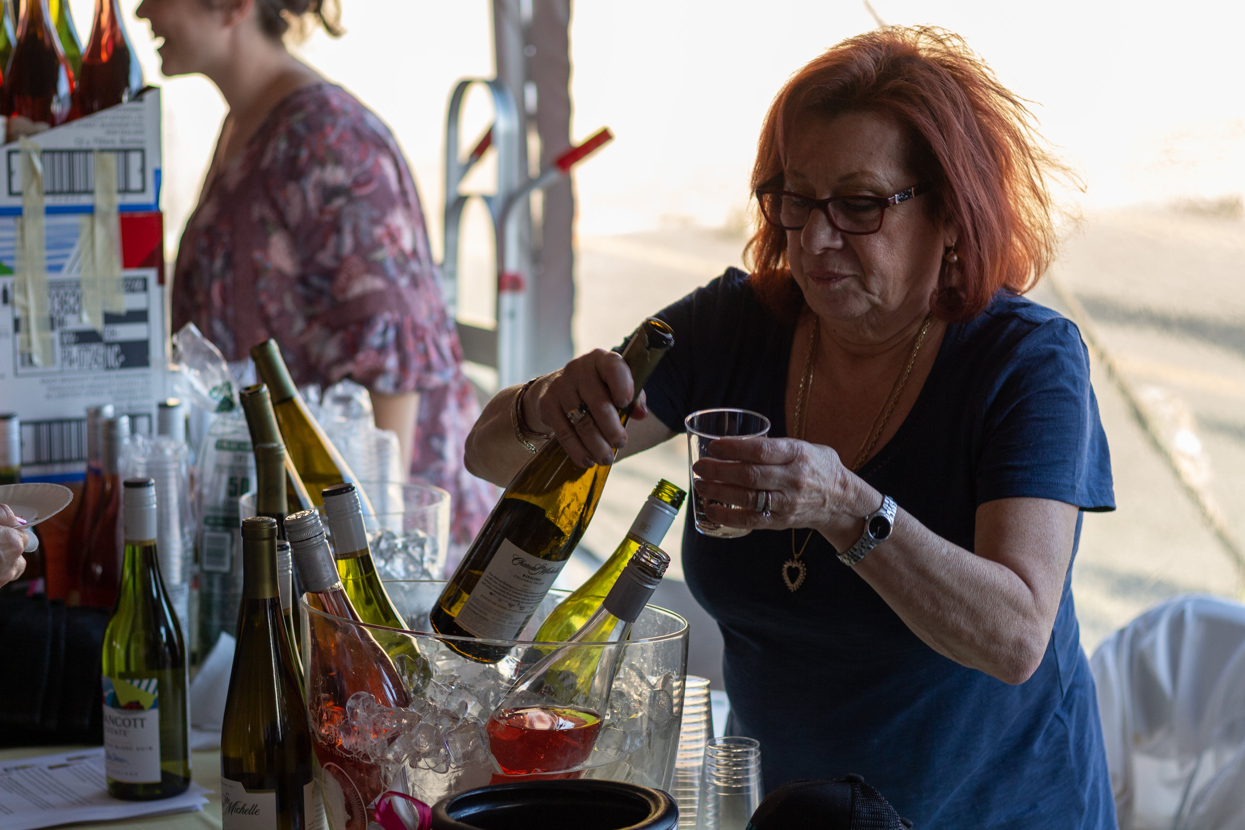 Alcohol and other beverages were also served at the Taste of Sunnyside.