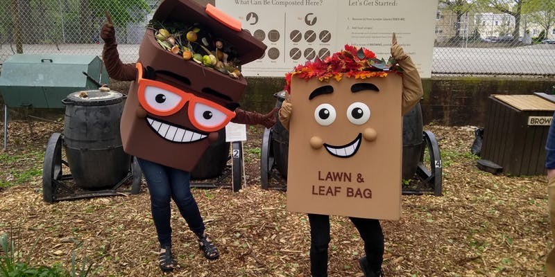 The NYC Department of Sanitation is giving away free compost at the Queens County Farm Museum. Photos courtesy of QEDC.
