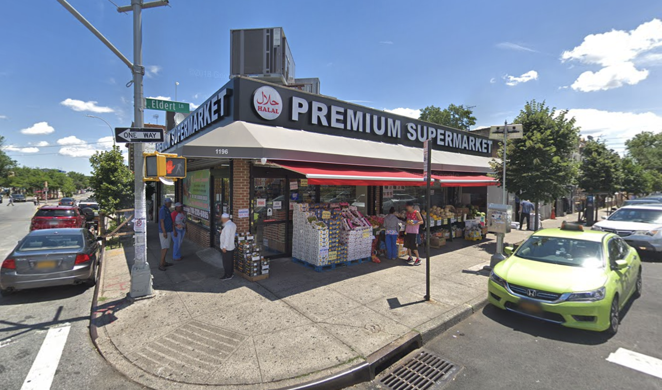 Manumar Khan allegedly set fire to Premium Supermarket in East New York. Photo via Google Maps