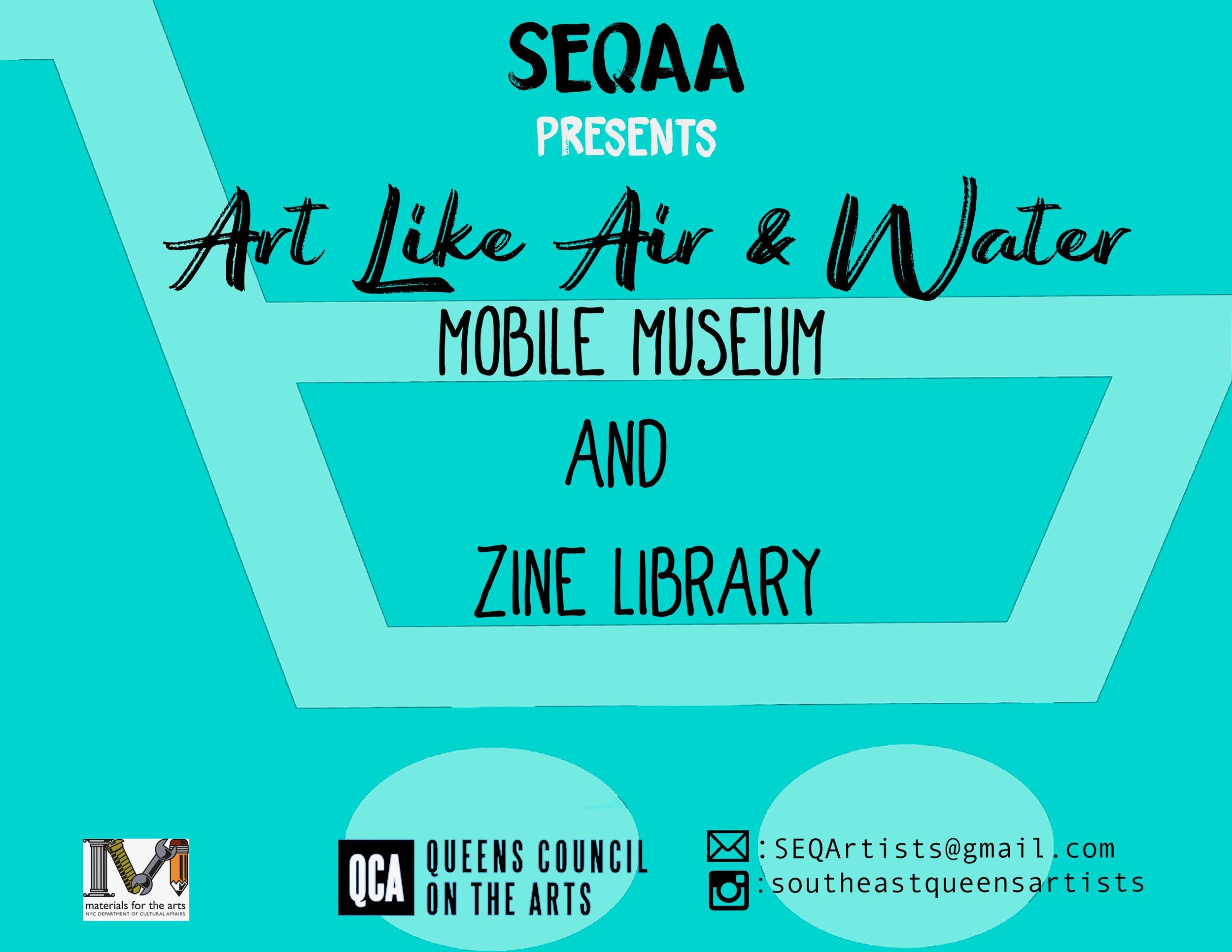 The Southeast Queens Artist Alliance opened its mobile museum and zine library in Jamaica. Image via the SEQA.