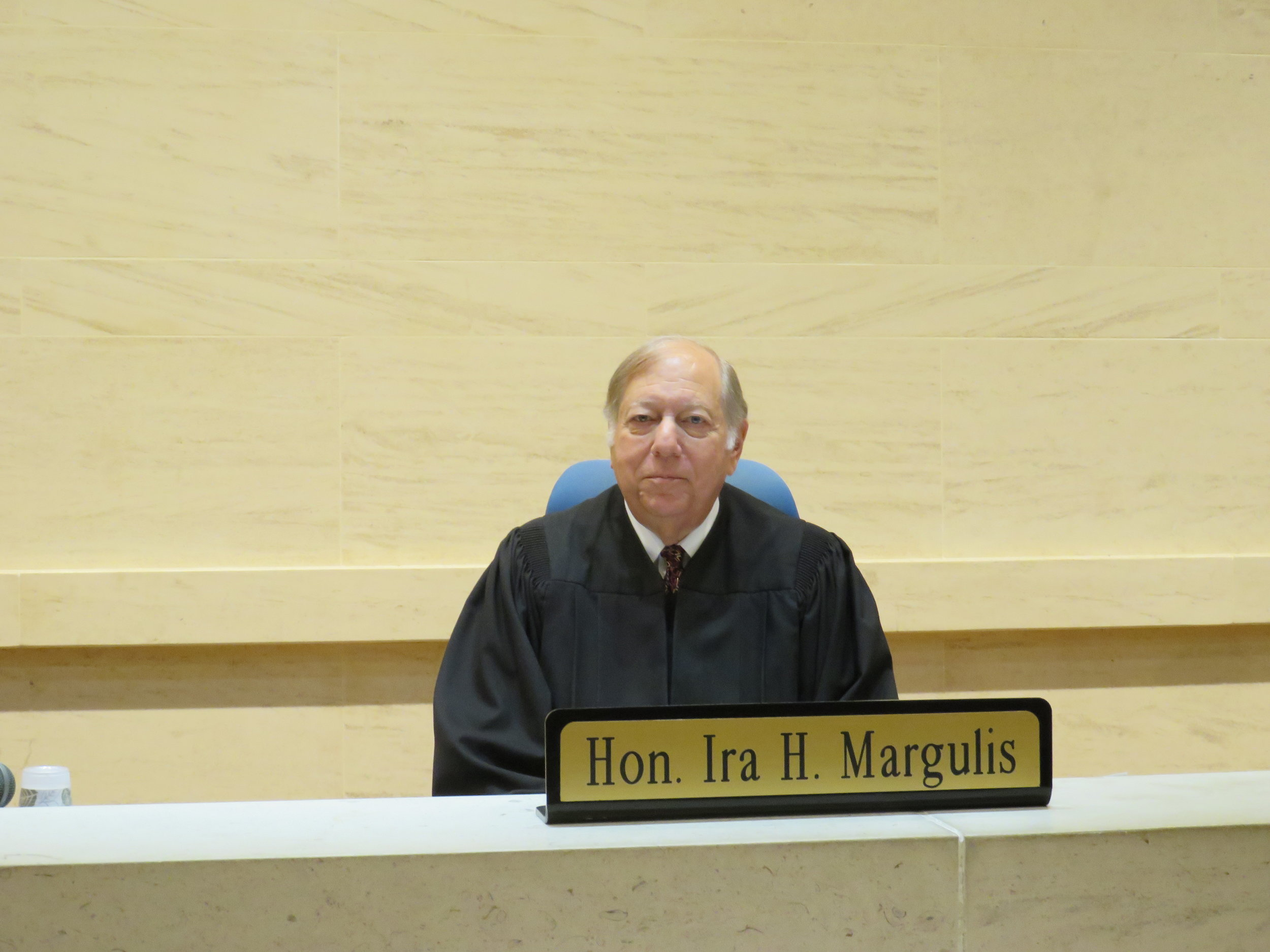 Judge Ira Margulis presided over the sentencing of Sherman Manning.  Eagle  file photo by David Brand.