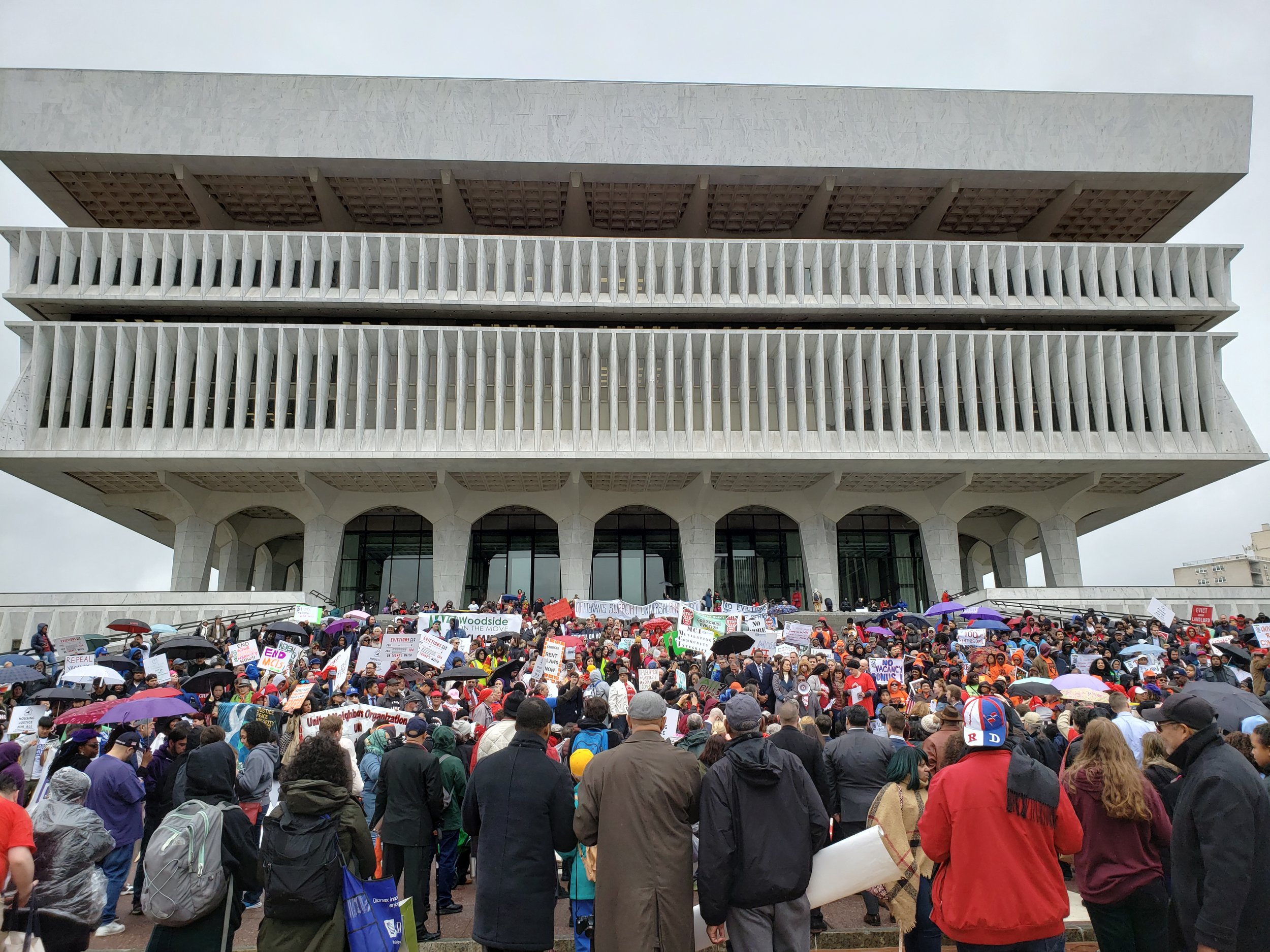 Activists traveled to Albany on May 14th to push the State Senate to pass nine affordable housing-related bills. Photos courtesy of Seonae Byeon.