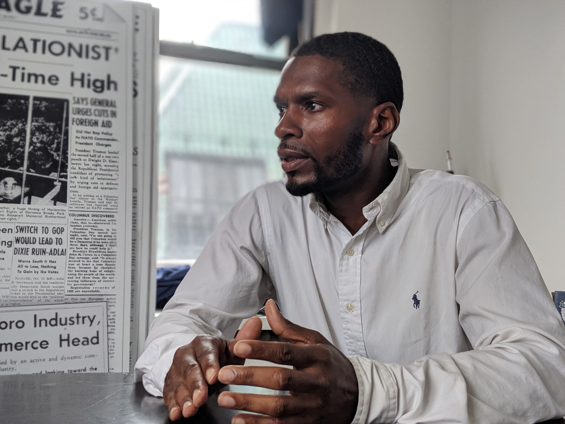 Shawn Williams attended Columbia University after being released from prison for the final time in 2010.  Eagle  photo by Phineas Rueckert.
