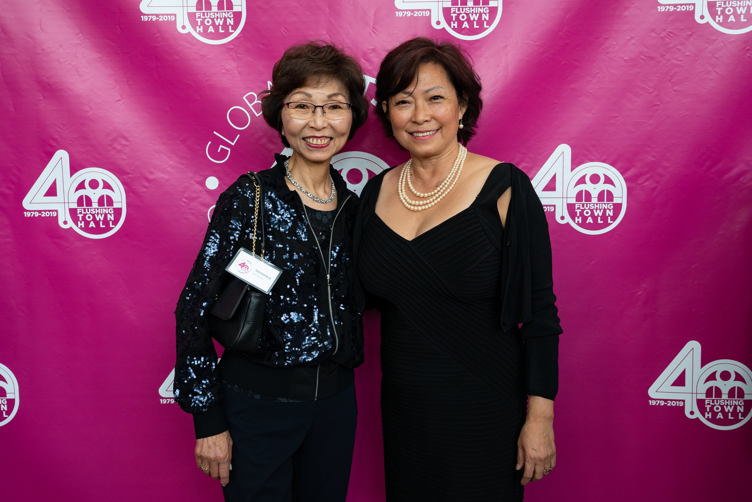 Flushing Town Hall held its 40th annual gala on June 6, 2019. Pictured (left to right) are: Board Vice President Veronica Y. Tsang and Honoree Emily Lin.