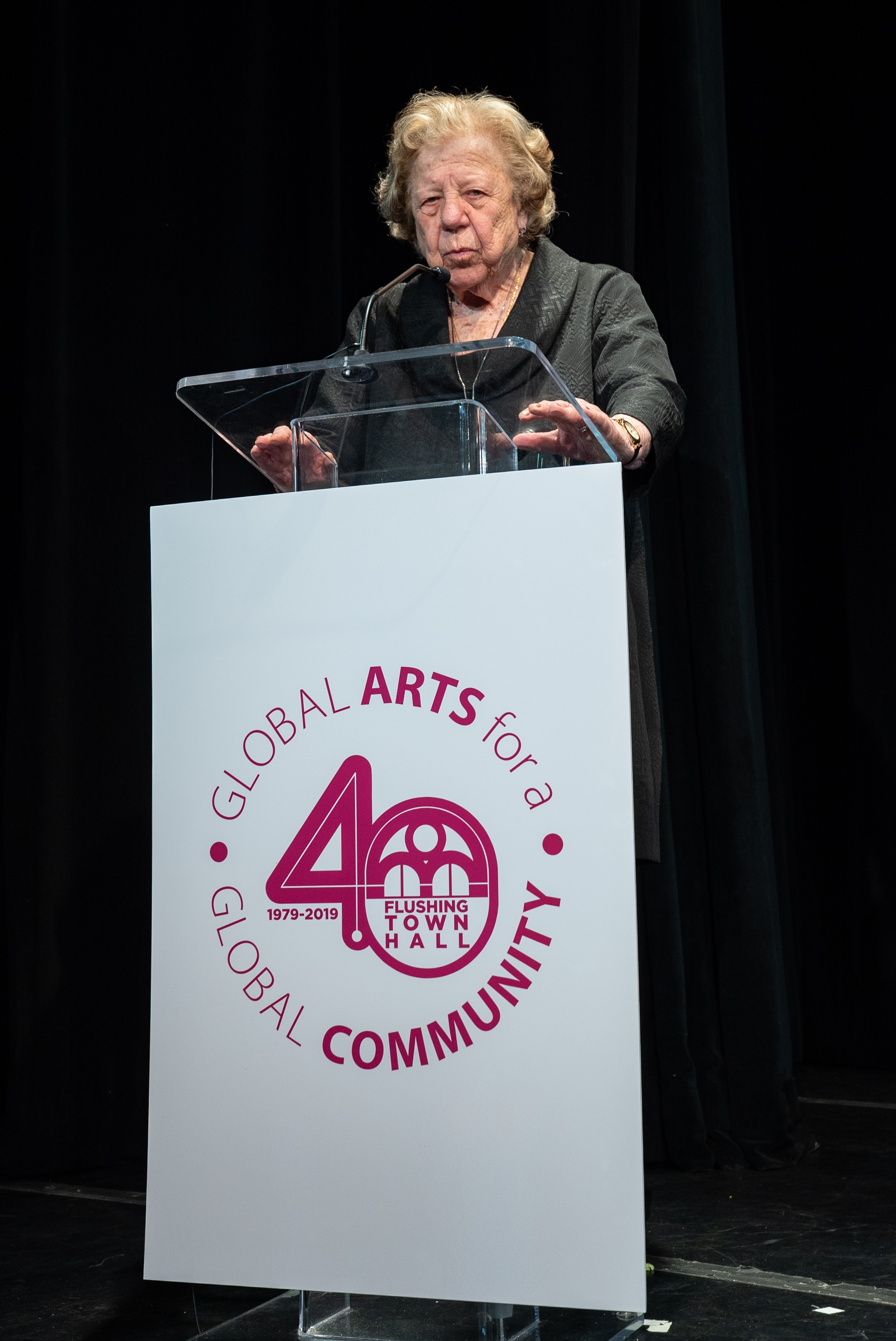 Flushing Town Hall held its 40th annual gala on June 6, 2019. Pictured is honoree Claire Shulman, former Queens Borough President.