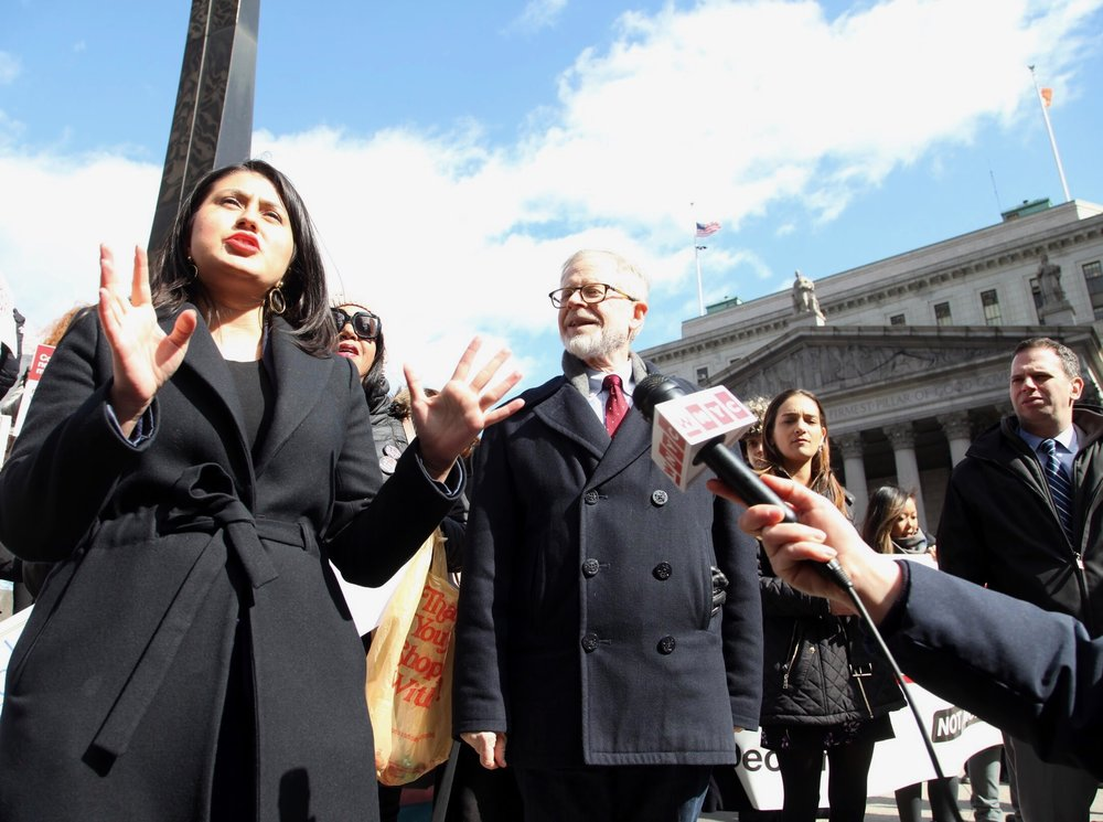 State Sen. Jessica Ramos and Assemblymember Richard Gottfried have sponsored a bill that would enable survivors of human trafficking to get their criminal records cleared. Photo by Danielle Blunt.