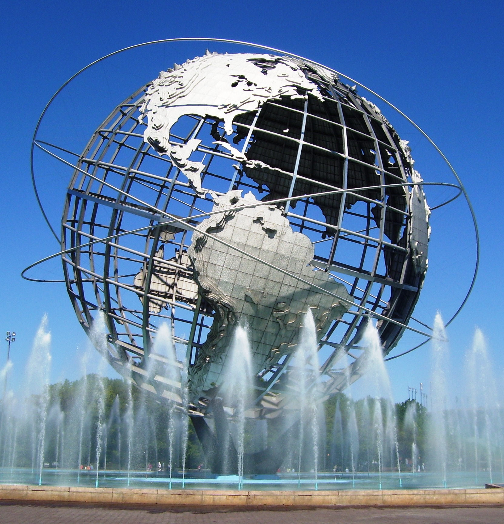 The Unisphere in Flushing Meadows Corona Park. Photo by Beyond Ken via Wikimedia Commons