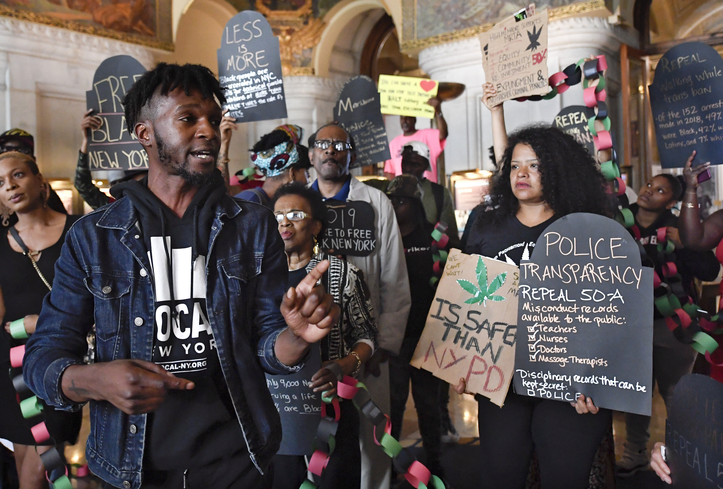 Activists rallied in the state Capitol on June 19 to push for marijuana legalization. AP Photo/Hans Pennink.