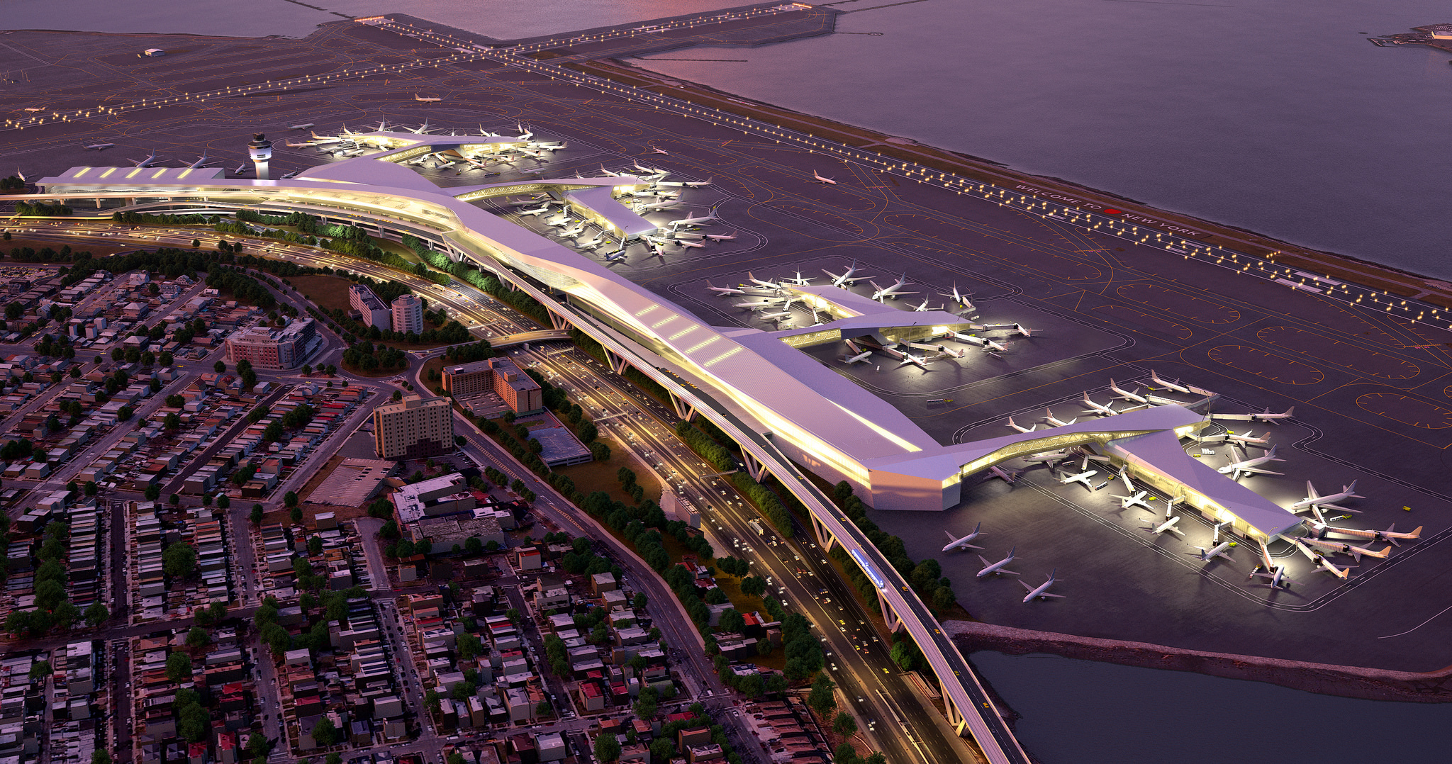 LaGuardia Airport is the 20th busiest airport in the nation, generating a lot of air traffic over Queens communities. Rendering via the Governor's Office.