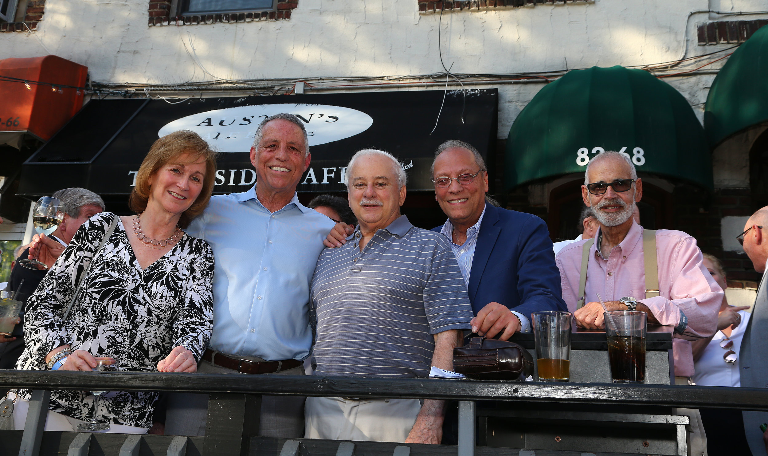 From left, Bonnie Cohen, Todd Greenberg, the Hon. Greg Lasak, Dominic Addabbo and the Hon. George Heymann.