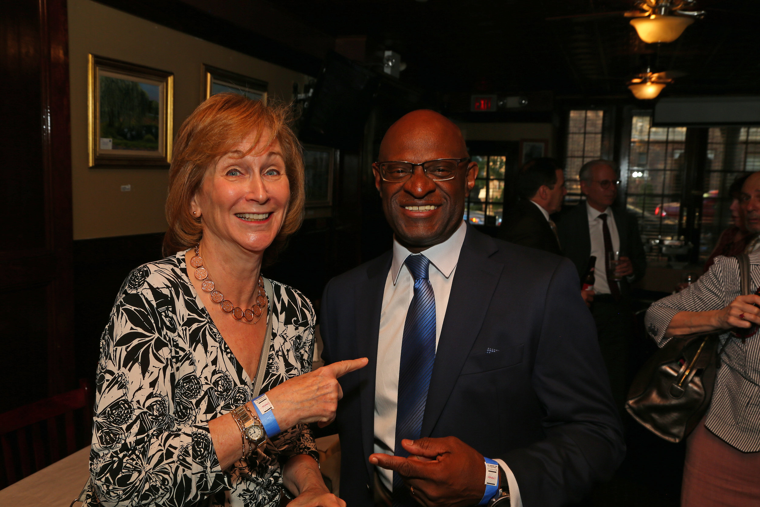 Bonnie Cohen (left) and the Hon. Kenneth Holder.
