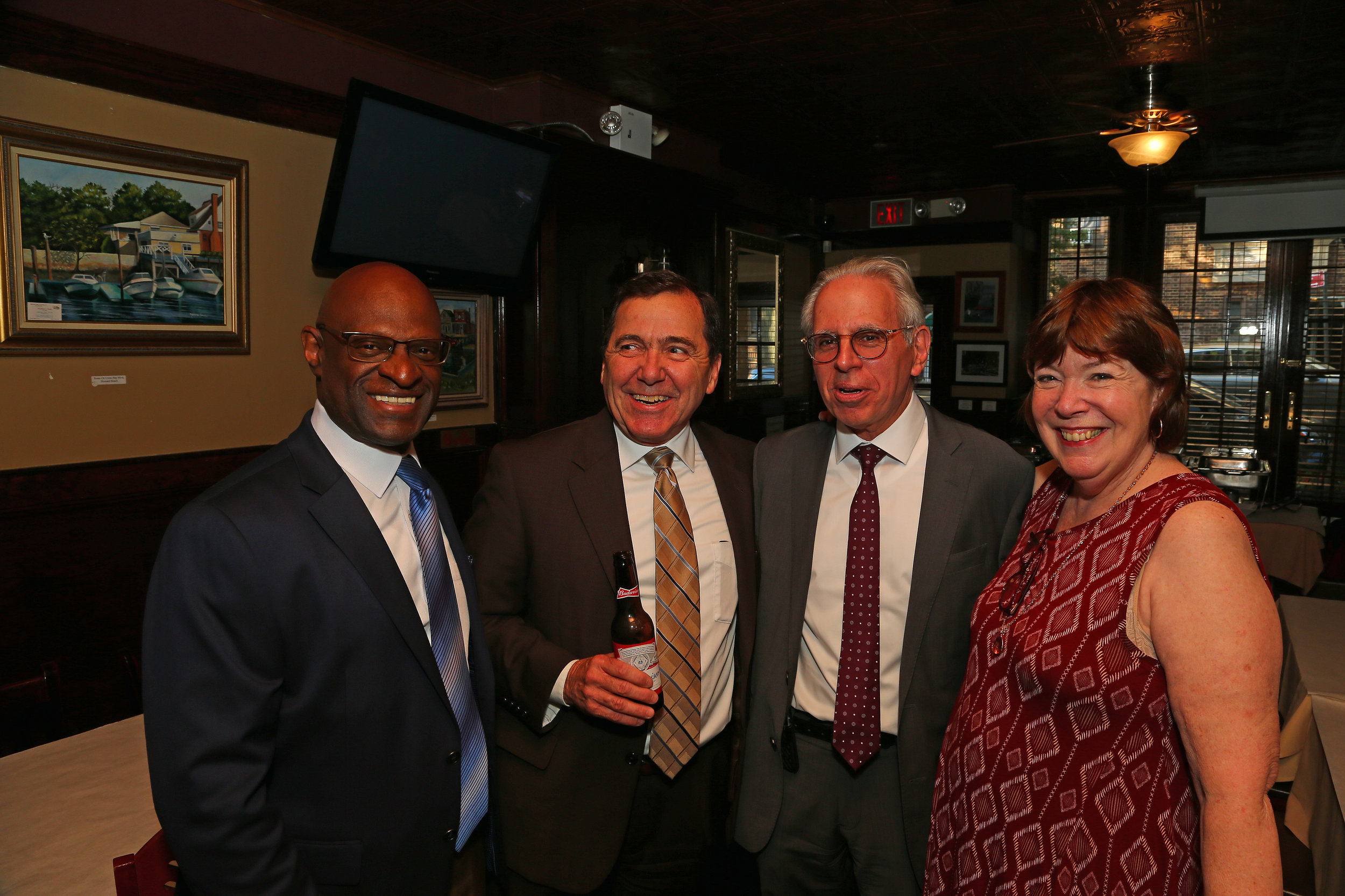 From left, the Hon. Kenneth Holder, Executive ADA James Quinn, Charles Testagarossa and the Hon. Deborah Modica.